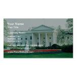 Blanco la Casa Blanca, Washington, C.C., los E.E.U Tarjeta De Visita
