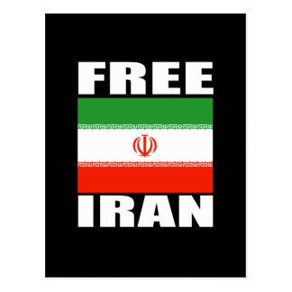 Blanco libre de la camiseta de Irán Tarjeta Postal