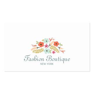 Blanco lindo y caprichoso del boutique del ramo de tarjetas de negocios