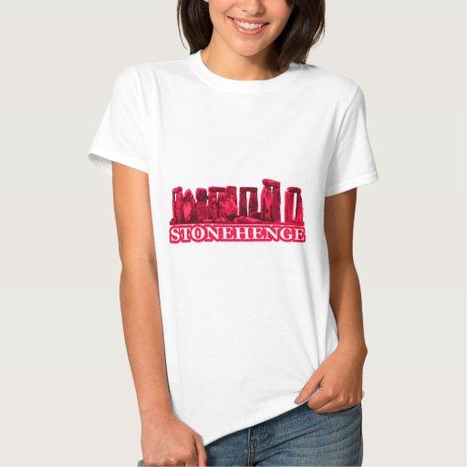 Blanco magenta de Stonehenge los regalos de Zazzle Camiseta