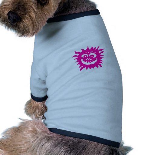 Blanco magenta del resplandor solar 2012 el regalo camiseta de perro