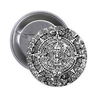 Blanco maya del calendario pin