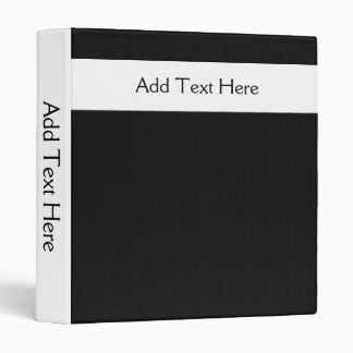 Blanco mínimo intrépido en carpeta de encargo negr
