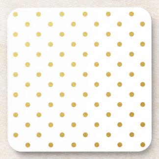 Blanco moderno de los falsos de oro lunares de la posavaso