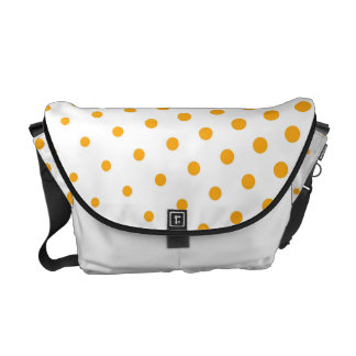 Blanco moderno de los lunares de la mandarina bolsas de mensajería