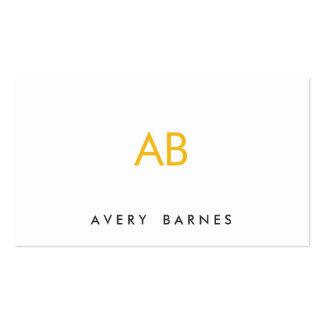 Blanco moderno minimalista del monograma amarillo