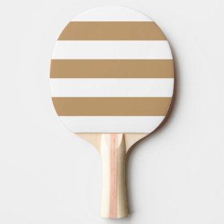 Blanco moderno, raya de Brown del camello Pala De Tenis De Mesa