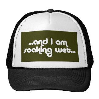 Blanco mojado de impregnación gorra