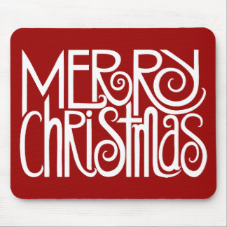 Blanco Mousepad de las Felices Navidad