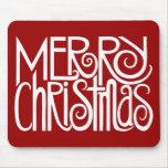Blanco Mousepad de las Felices Navidad Tapete De Ratones
