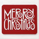 Blanco Mousepad de las Felices Navidad Tapetes De Ratón