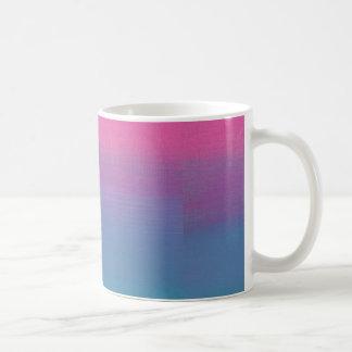 Blanco multi de los colores taza blanca clásica de