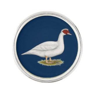 Blanco Muscovy del pato Pin