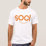 blanco/naranja de la camiseta del socl