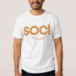 blanco/naranja de la camiseta del socl playera