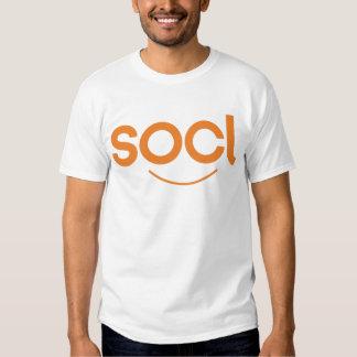 blanco/naranja de la camiseta del socl polera