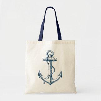 Blanco náutico de los azules marinos del regalo de bolsa de mano