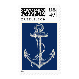 Blanco náutico de los azules marinos del regalo sellos