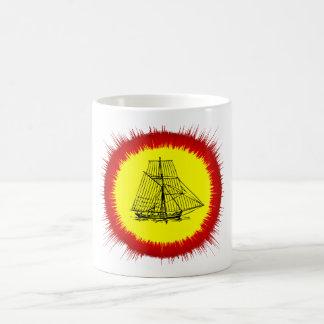 Blanco nave blanca clásica de la taza de 325 ml