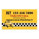 Blanco negro amarillo #5 del taxi tarjeta de negocio
