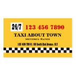Blanco negro amarillo del taxi tarjetas personales