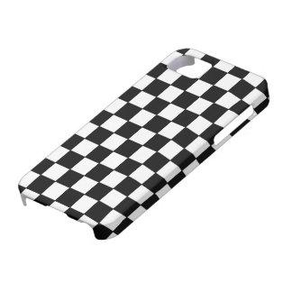 Blanco negro comprobado - caso del iPhone 5 iPhone 5 Carcasas