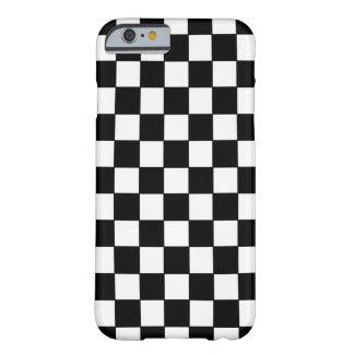 Blanco negro comprobado - caso del iPhone 6 Funda De iPhone 6 Barely There