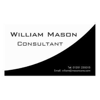 Blanco negro curvado, tarjeta de visita profesiona