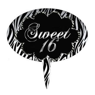 Blanco negro de la cebra del dulce 16 para la tort figura de tarta