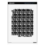 Blanco negro de n: Botones elegantes iPad 3 Skin