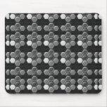 Blanco negro de n: Botones elegantes Alfombrillas De Ratón