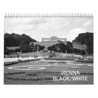 Blanco negro de Viena Austria Calendario