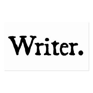 Blanco negro del escritor tarjetas de visita