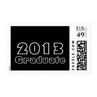 Blanco negro graduado 2013 intrépidos modernos sello