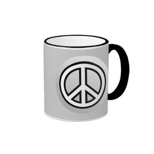 Blanco negro gris del gris de plata metalizada del taza a dos colores