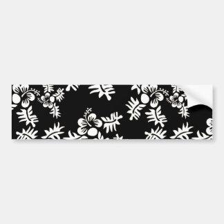 Blanco negro inconsútil h de la flor Pattern3 del  Etiqueta De Parachoque