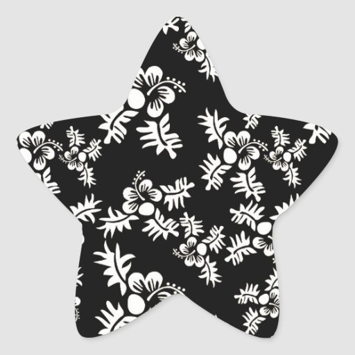 Blanco negro inconsútil h de la flor Pattern3 del Colcomanias Forma De Estrellaes Personalizadas