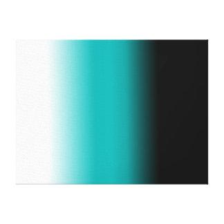 Blanco negro Ombre del trullo Lona Envuelta Para Galerías