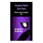 Blanco negro púrpura del vino del viñedo del lagar tarjeta personal