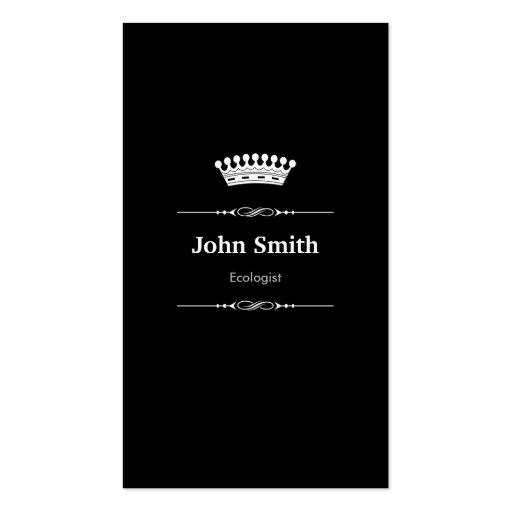 Blanco negro real elegante del ecologista plantilla de tarjeta de visita