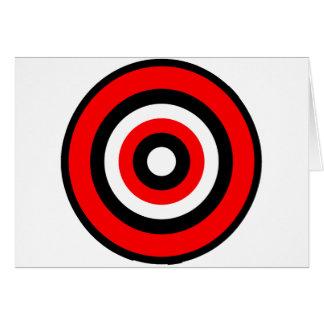Blanco negro rojo de la diana tarjeta de felicitación