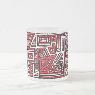 Blanco negro rojo del arte atractivo de la taza cristal mate