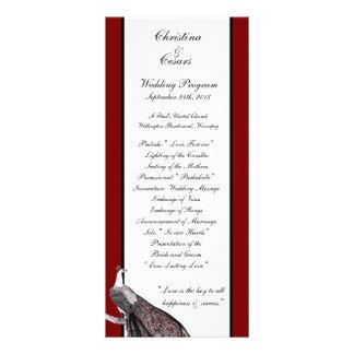 blanco negro rojo del pavo real del programa del b lona publicitaria