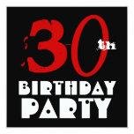 Blanco negro rojo G451 del trigésimo cumpleaños Comunicados