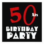 Blanco negro rojo W1072 del 50.o cumpleaños Anuncios