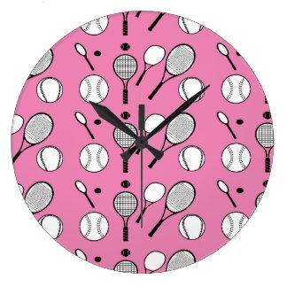 blanco negro rosado del tenis reloj