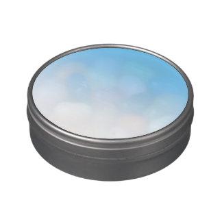 Blanco Ombre del azul de cielo Jarrones De Caramelos