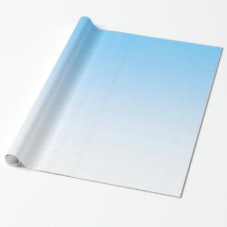 Blanco Ombre del azul de cielo