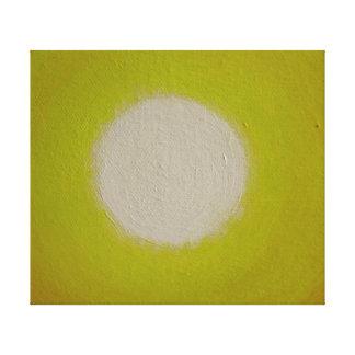 Blanco para amarillear Sun Impresión En Lona