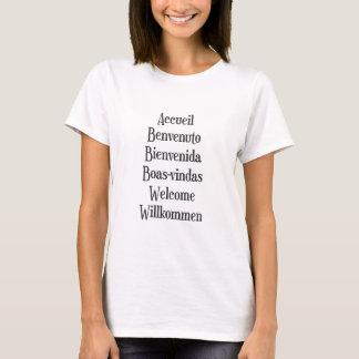 Blanco para hombre para mujer de la camiseta